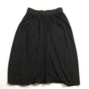 Bebe Gathered Tulip Midi Skirt Size XXS